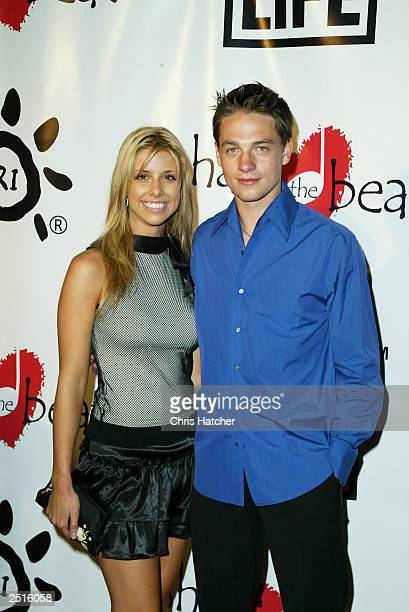 Actors Melissa Schuman and Gregory Smith attend the First Annual 'Share the Beat' to benefit transplant awareness at Cicada Restaurant on September...
