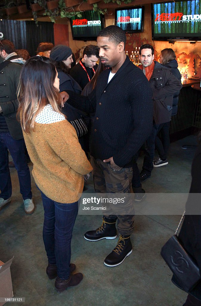 Actors Melonie Diaz and Michael B. Jordan attend Day 1 of the Variety Studio at 2013 Sundance Film Festival on January 19, 2013 in Park City, Utah.