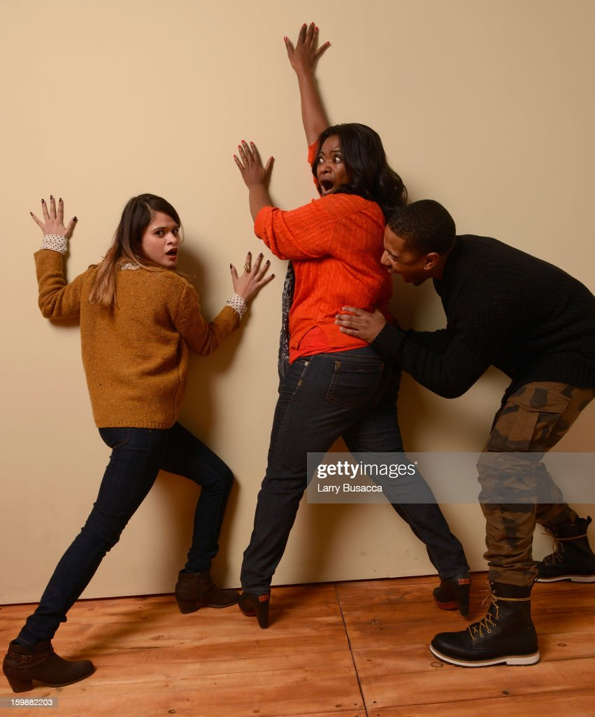 Actors Melonie Diaz, Octavia Spencer and Michael B. Jordan pose for a portrait during the 2013 Sundance Film Festival at the Getty Images Portrait Studio at Village at the Lift on January 19, 2013 in Park City, Utah.