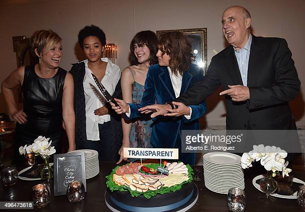 Actors Melora Hardin Kiersey Clemons Hari Nef creator/executive producer Jill Soloway and actor Jeffrey Tambor attend the after party for the...