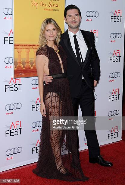Actors Melvil Poupaud and Melanie Laurent arrive at the AFI FEST 2015 presented by Audi Opening Night Gala Premiere of Universal Pictures' 'By The...