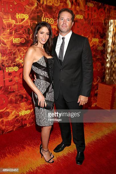 Actors Mercedes Masohn and David Denman attend HBO's Official 2015 Emmy After Party at The Plaza at the Pacific Design Center on September 20 2015 in...