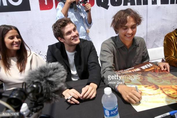 Actors Mercedes Masohn Daniel Sharman and Frank Dillane sign autographs at the 'Fear the Walking Dead' Autograph Signing for AMC At Comic Con 2017...