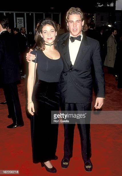 Actors Merideth Salenger William McNamara attend the 14th Annual National CableACE Awards on January 17 1993 at Pantages Theatre in Hollywood...