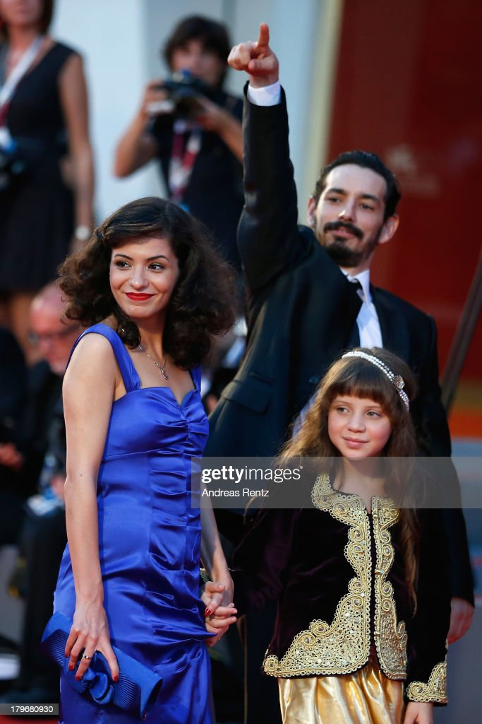Actors Meriem Medjkane, Nadjib Oulebsir and Myriam Ait El Hadj attend 'Les Terrasses' premiere during the 70th Venice International Film Festival at Palazzo del cinema on September 6, 2013 in Venice, Italy.