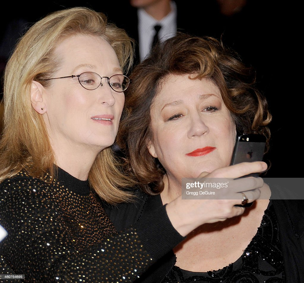 Actors <a gi-track='captionPersonalityLinkClicked' href=/galleries/search?phrase=Meryl+Streep&family=editorial&specificpeople=171097 ng-click='$event.stopPropagation()'>Meryl Streep</a> and <a gi-track='captionPersonalityLinkClicked' href=/galleries/search?phrase=Margo+Martindale&family=editorial&specificpeople=2649306 ng-click='$event.stopPropagation()'>Margo Martindale</a> arrive at the 25th Annual Palm Springs International Film Festival Awards Gala at Palm Springs Convention Center on January 4, 2014 in Palm Springs, California.