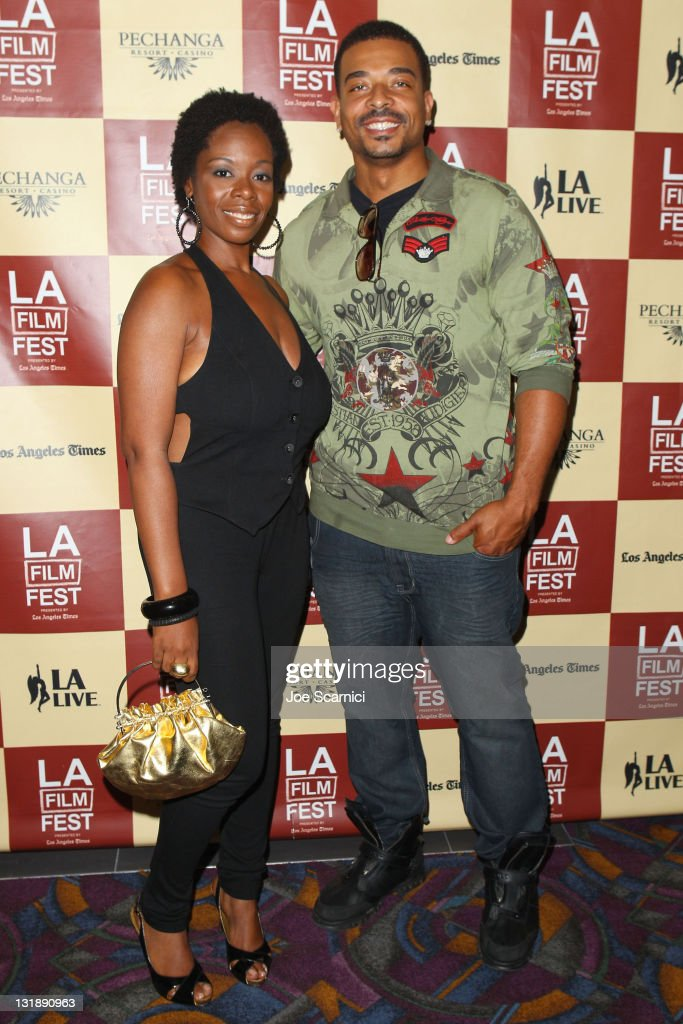 Actors Metra Dee and Giovanni attends the 'Leave It On The Floor' Q & A during the 2011 Los Angeles Film Festival held at the Regal Cinemas L.A. LIVE on June 18, 2011 in Los Angeles, California.