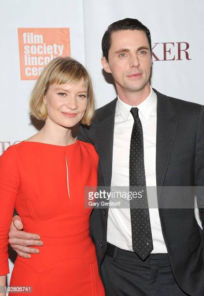 Actors Mia Wasikowska and Matthew Goode attend the 'Stoker' New York Screening at The Film Society of Lincoln Center Walter Reade Theatre on February...