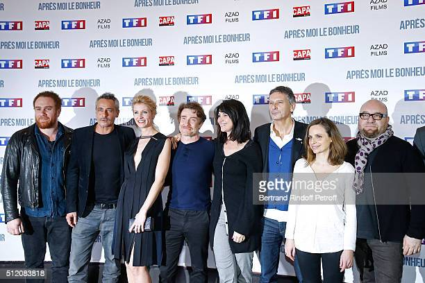 Actors Michael Abiteboul JeanMichel Tinivelli Alexandra Lamy Thierry Fremont Zabou Breitman Director Nicolas Cuche and Team of the movie attend the...