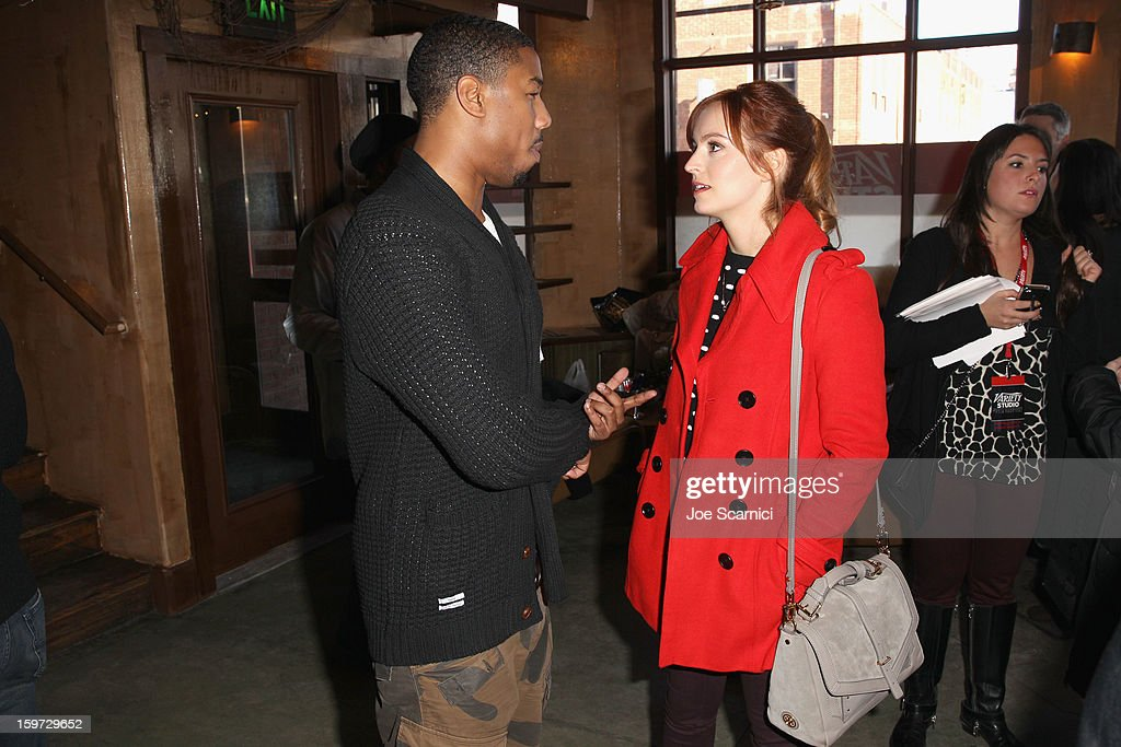 Actors Michael B. Jordan and Ahna O'Reilly attend Day 1 of the Variety Studio at 2013 Sundance Film Festival on January 19, 2013 in Park City, Utah.