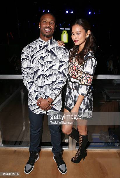 Actors Michael B Jordan and Jamie Chung attend Absolut Electrik House an epic house party transformed by the energy of its guests in celebration of...