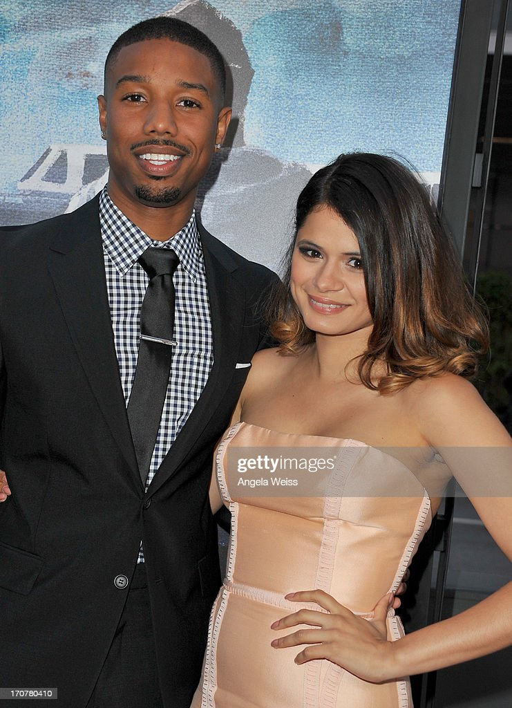Actors Michael B. Jordan (L) and <a gi-track='captionPersonalityLinkClicked' href=/galleries/search?phrase=Melonie+Diaz&family=editorial&specificpeople=3323742 ng-click='$event.stopPropagation()'>Melonie Diaz</a> arrive at the premiere of The Weinstein Company's 'Fruitvale Station' during the 2013 Los Angeles Film Festival at Regal Cinemas L.A. Live on June 17, 2013 in Los Angeles, California.