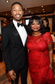 Actors Michael B Jordan and Octavia Spencer attend the Fruitvale Station Cannes screening dinner held aboard the Harle Yacht on May 16 2013 in Cannes...