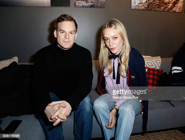 Actors Michael C Hall and Chloe Sevigny attend the Eddie Bauer Adventure House during the 2016 Sundance Film Festival at Village at The Lift on...