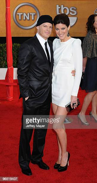 Actors Michael C Hall and Jennifer Carpenter attend the 16th Annual Screen Actors Guild Awards at The Shrine Auditorium on January 23 2010 in Los...