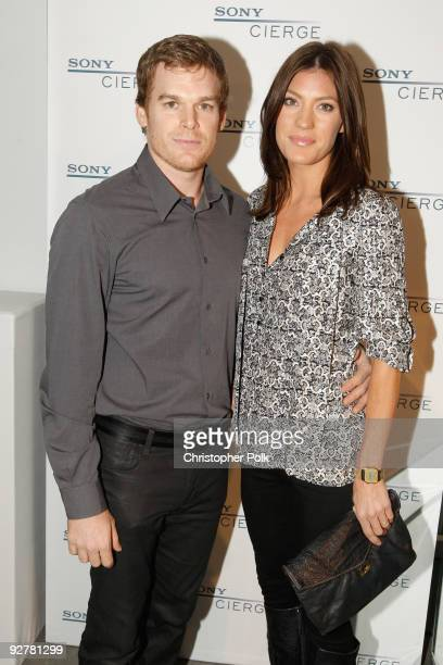 Actors Michael C Hall and Jennifer Carpenter attend the Sony CIERGE Holiday Preview at SLS Hotel on November 4 2009 in Beverly Hills California
