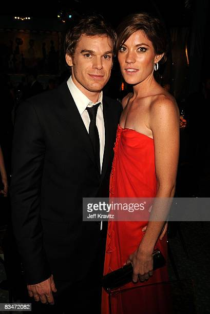 Actors Michael C Hall and Jennifer Carpenter attends HBO's Post Award Reception after the 60th Primetime Emmy Awards at the Pacific Design Center on...