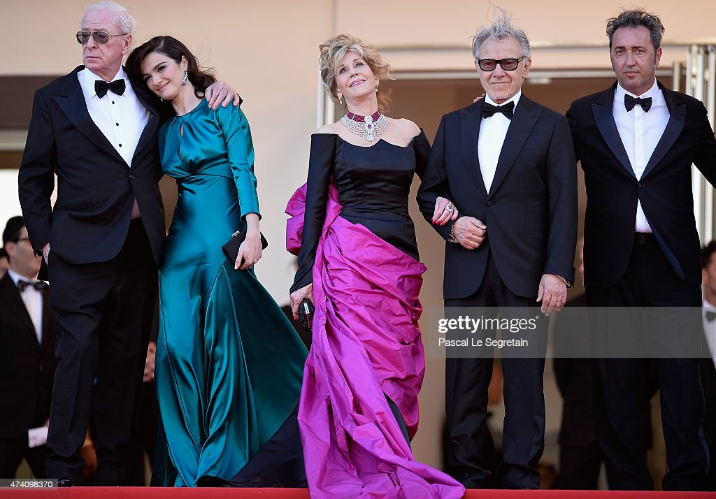 Actors Michael Caine Rachel Weisz Jane Fonda and Harvey Keitel and director Paolo Sorrentino attend the 'Youth' Premiere during the 68th annual...