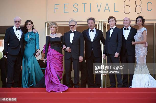Actors Michael Caine Rachel Weisz Jane Fonda and Harvey Keitel director Paolo Sorrentino and actors Paul Dano Alex Macqueen and Madalina Ghenea...