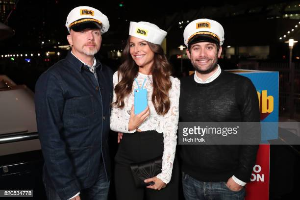 Actors Michael Cerveris Yara Martinez Head of Amazon Comedy Joe Lewis attend the #IMDboat Party at San Diego ComicCon 2017 Presented By XFINITY on...