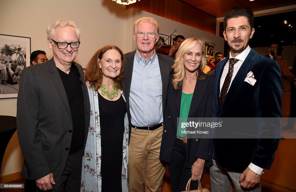 Actors Michael Chieffo, Beth Grant, Ed Begley Jr, Rachelle Carson and writer Drago Sumonja attend the after party for the Los Angeles premiere of 'Lucky' at Linwood Dunn Theater on September 26, 2017 in Los Angeles, California.