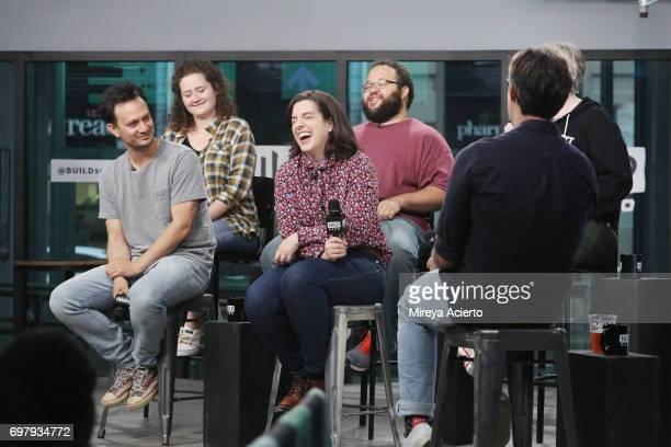 Actors Michael Cruz Kayne Chelsea Clarke Abra Tabak and Zach Cherry members of the Upright Citizens Brigade Theatre visit Build to discuss 'The Del...