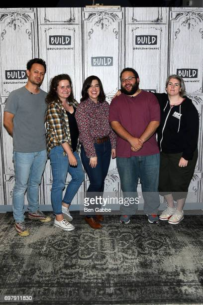 Actors Michael Cruz Kayne Chelsea Clarke Abra Tabak Zach Cherry and Shannon O'Neill of the Upright Citizens Brigade Theatre attend the Build Series...