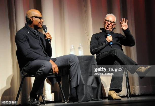 Actors Michael Dorn and Malcolm McDowell attend the Malcolm McDowell Series Of QA Screenings for 'Star Trek Generations' Presented by Prospect House...