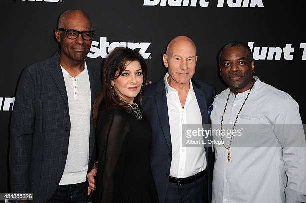 Actors Michael Dorn Marina Sirtis Patrick Stewart and LeVar Burton arrive for the Premiere Of STARZ 'Blunt Talk' held at DGA Theater on August 10...