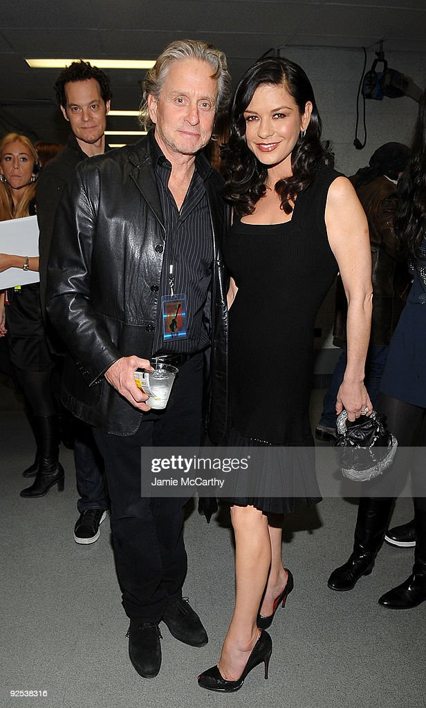 *EXCLUSIVE* Actors Michael Douglas and Catherine Zeta Jones attend the 25th Anniversary Rock & Roll Hall of Fame Concert at Madison Square Garden on October 29, 2009 in New York City.