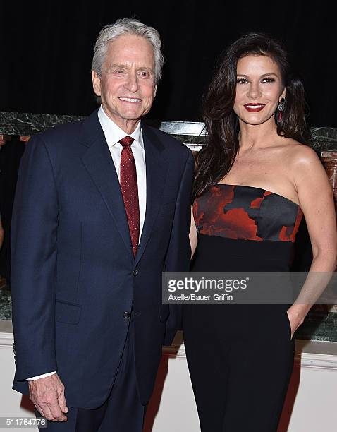 Actors Michael Douglas and Catherine ZetaJones attend the 15th Annual Movies For Grownups Awards at the Beverly Wilshire Four Seasons Hotel on...