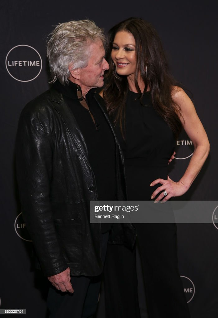 Actors Michael Douglas and Catherine Zeta-Jones attend the Lifetime Luminaries screening of 'Cocaine Godmother, The Griselda Blanco Story' at NeueHouse Madison Square on November 30, 2017 in New York City.