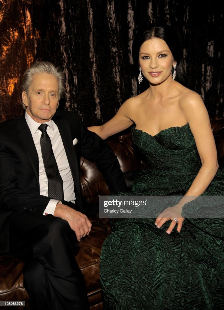 Actors <a gi-track='captionPersonalityLinkClicked' href=/galleries/search?phrase=Michael+Douglas&family=editorial&specificpeople=171111 ng-click='$event.stopPropagation()'>Michael Douglas</a> and <a gi-track='captionPersonalityLinkClicked' href=/galleries/search?phrase=Catherine+Zeta-Jones&family=editorial&specificpeople=167111 ng-click='$event.stopPropagation()'>Catherine Zeta-Jones</a> attends The Weinstein Company and Relativity Media's 2011 Golden Globe After Awards Party presented by Marie Claire held at The Beverly Hilton hotel on January 16, 2011 in Beverly Hills, California.