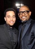 Actors Michael Ealy and Forest Whitaker attend the 45th NAACP Image Awards presented by TV One at Pasadena Civic Auditorium on February 22 2014 in...