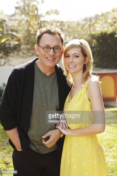 Actors Michael Emerson and Carrie Preston pose for a portrait session in their Los Angeles home on February 1 Los Angeles CA On domestic and...
