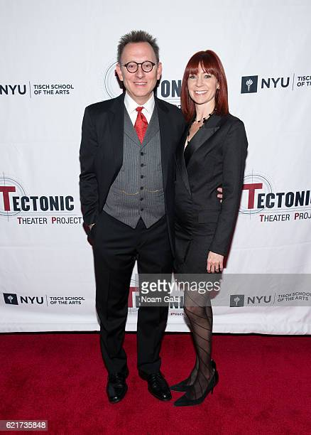 Actors Michael Emerson and Carrie Preston attend Tectonic at 25 at NYU Skirball Center on November 7 2016 in New York City