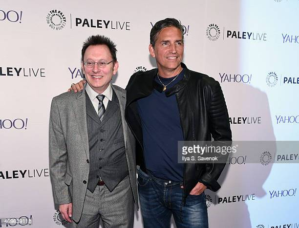 Actors Michael Emerson and Jim Caviezel attend The Paley Center For Media Hosts An Evening With 'Person Of Interest' at The Paley Center for Media on...