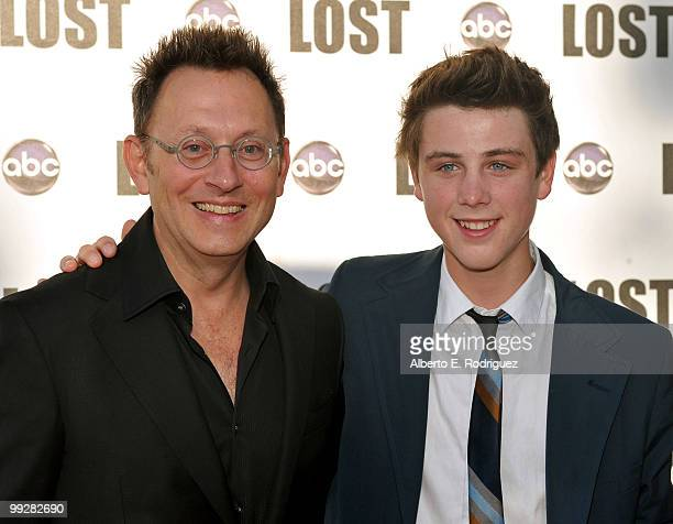 Actors Michael Emerson and Sterling Beaumon arrive at ABC's 'Lost' Live The Final Celebration held at UCLA Royce Hall on May 13 2010 in Los Angeles...