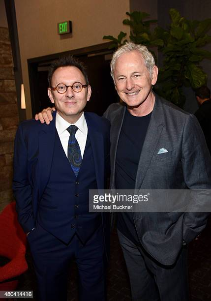 Actors Michael Emerson and Victor Garber attend the Getty Images Portrait Studio Powered By Samsung Galaxy At ComicCon International 2015 at Hard...