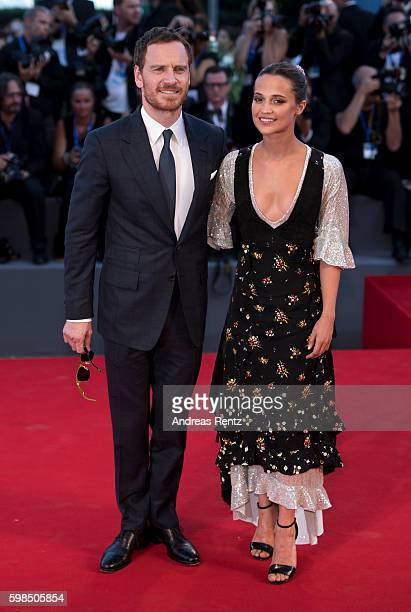 Actors Michael Fassbender and Alicia Vikander attend the premiere of 'The Light Between Oceans' during the 73rd Venice Film Festival at Sala Grande...