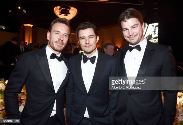 Actors Michael Fassbender Orlando Bloom and Josh Hartnett attend the 69th Annual Directors Guild of America Awards at The Beverly Hilton Hotel on...