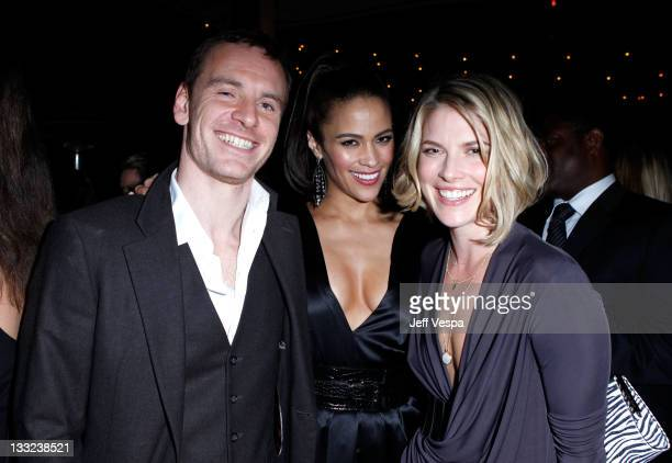 Actors Michael Fassbinder Paula Patton and Ali Larter attend GQ's 2011 'Men of the Year' Party held at Chateau Marmont on November 17 2011 in Los...