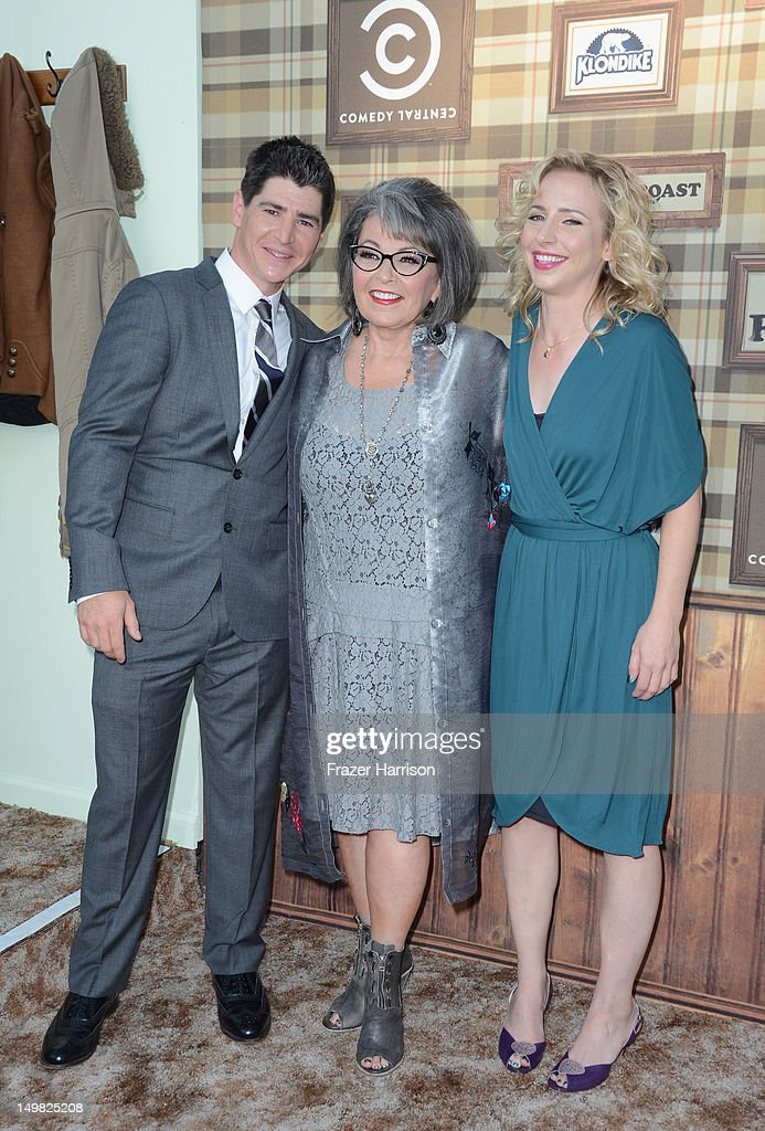Actors <a gi-track='captionPersonalityLinkClicked' href=/galleries/search?phrase=Michael+Fishman&family=editorial&specificpeople=1543034 ng-click='$event.stopPropagation()'>Michael Fishman</a>, <a gi-track='captionPersonalityLinkClicked' href=/galleries/search?phrase=Roseanne+Barr&family=editorial&specificpeople=228388 ng-click='$event.stopPropagation()'>Roseanne Barr</a>, and <a gi-track='captionPersonalityLinkClicked' href=/galleries/search?phrase=Alicia+Goranson&family=editorial&specificpeople=1538354 ng-click='$event.stopPropagation()'>Alicia Goranson</a> arrive at the Comedy Central Roast of <a gi-track='captionPersonalityLinkClicked' href=/galleries/search?phrase=Roseanne+Barr&family=editorial&specificpeople=228388 ng-click='$event.stopPropagation()'>Roseanne Barr</a> at Hollywood Palladium on August 4, 2012 in Hollywood, California.
