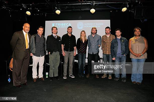 Actors Michael Genet Mike Doyle Edoardo Ballerini Morgan Spector Marin Ireland Anson Mount Sam Rosen Adam Scarimbolo and actress Twinkle Burke...