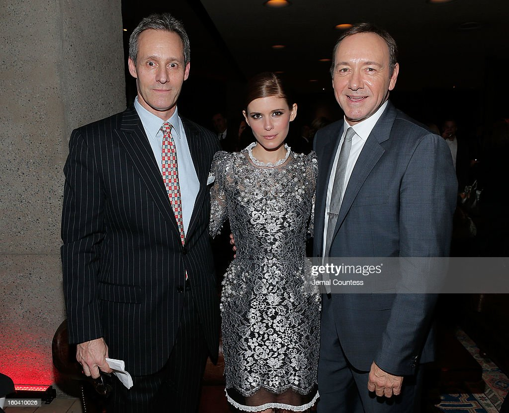 Actors Michael Gill, <a gi-track='captionPersonalityLinkClicked' href=/galleries/search?phrase=Kate+Mara&family=editorial&specificpeople=544680 ng-click='$event.stopPropagation()'>Kate Mara</a> and <a gi-track='captionPersonalityLinkClicked' href=/galleries/search?phrase=Kevin+Spacey&family=editorial&specificpeople=202091 ng-click='$event.stopPropagation()'>Kevin Spacey</a> attend Netflix's 'House Of Cards' New York Premiere After Party at Alice Tully Hall on January 30, 2013 in New York City.