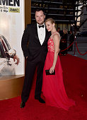 Actors Michael Gladis and Beth Behrs attend the AMC celebration of the final 7 episodes of 'Mad Men' with the Black Red Ball at the Dorothy Chandler...