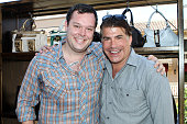 Actors Michael Gladis and Bryan Batt attend the Kari Feinstein Primetime Emmy Awards Style Lounge Day 1 held at Montage Beverly Hills hotel on August...