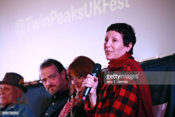 Actors Michael Horse Sean Bolger Makeup artist Debbie Zoller and Executive Producer Sabrina S Sutherland answer questions on stage during the Twin...