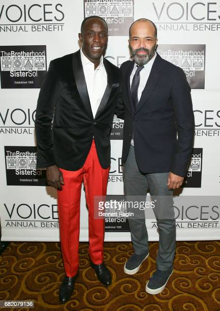Actors Michael K Williams and Jeffrey Wright attend the Brotherhood/Sister Sol 2017 Gala at Gotham Hall on May 11 2017 in New York City