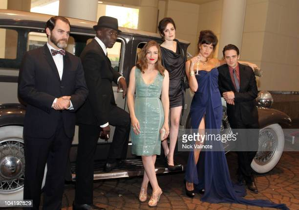 Actors Michael K Williams Michael Stuhlbarg Kelly Macdonald Aleksa Palladino Paz de la Huerta and Vincent Piazza pose at HBO Caesars Revisit the...
